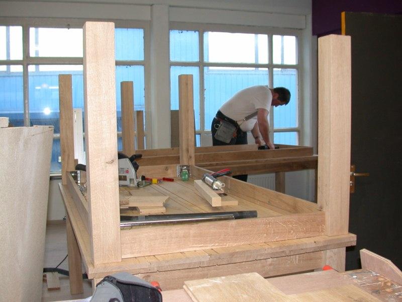 Houten tafelblad maken cool photo gallery of the zelf houten